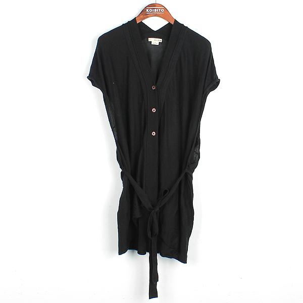 DKNY(도나카란) 블랙 컬러 반팔 가디건 허리띠(set) [강남본점]