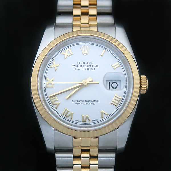 Rolex(로렉스) 116233 DATEJUST(데이저스트) 18K 골드 화이트 다이얼 콤비 남성용시계 [부산센텀본점]