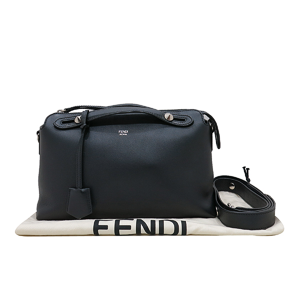 Fendi(펜디) 8BL124 블랙 레더 바이더웨이 토트백 + 숄더 스트랩 [인천점]