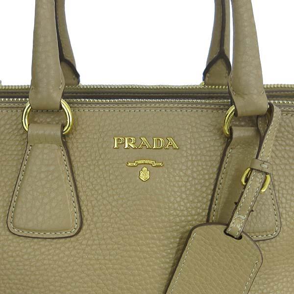 Prada(프라다) BN2420 VIT.DAINO(비텔로다이노) 베이지 레더 삼각 로고 토트백 + 숄더스트랩 [동대문점] 이미지4 - 고이비토 중고명품