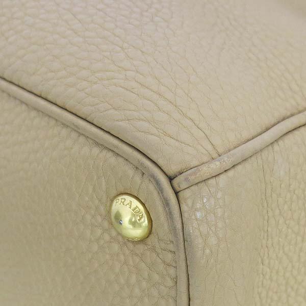 Prada(프라다) BN2420 VIT.DAINO(비텔로다이노) 베이지 레더 삼각 로고 토트백 + 숄더스트랩 [동대문점] 이미지5 - 고이비토 중고명품