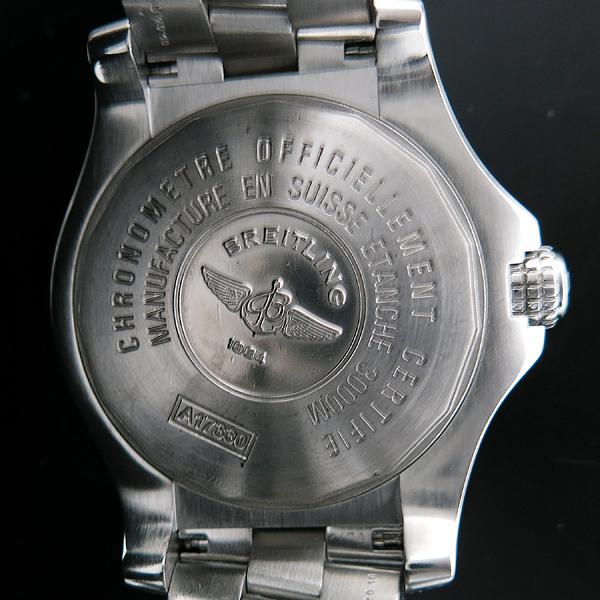 BREITLING(브라이틀링) A1733010 Avenger Seawolf 블랙 다이얼 데이트 오토매틱 스틸 남성용 시계 (+러버밴드) [인천점]