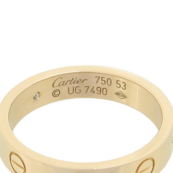 Cartier(까르띠에) B4050753 18K 핑크골드 Love wedding band, 1 diamond Love 1포인트 다이아 미니 러브링 웨딩 반지 - 13호 [강남본점]