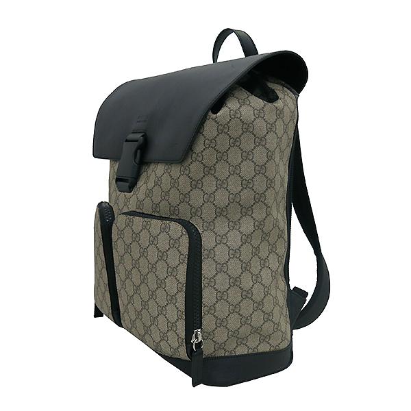 Gucci(구찌) 406369 GG로고 PVC 슈프림 캔버스 블랙 레더 투 포켓 백팩 [부산센텀본점] 이미지2 - 고이비토 중고명품