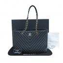 Chanel(샤넬) A91046 블랙 레더 퀼팅 쉐브론 라이트골드 로고 체인 숄더백  [부산센텀본점]