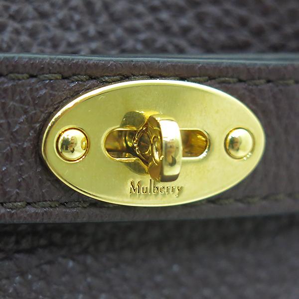 MULBERRY(멀버리) HH4335 버건디컬러 레더 애비 버킷 골드메탈 락 디테일 숄더백 + 파우치 [부산센텀본점]