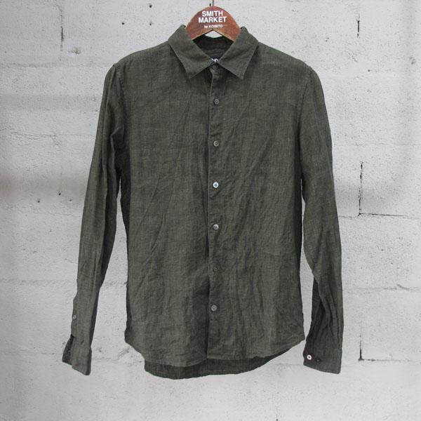 DKNY(도나카란) 린넨 100% 카키 컬러 남성용 셔츠 [동대문점]