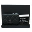 Chanel(샤넬) A69271Y01588 캐비어스킨 클래식 실버 메탈 블랙 지피 코인 지갑 [인천점]