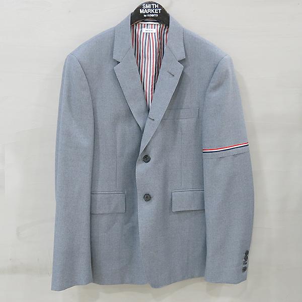 THOM BROWNE(톰브라운) MJC177A 그레이 컬러 울 혼방 삼선 트윌리 남성용 블레이저 자켓 [부산센텀본점]