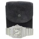 Cartier(까르띠에) W20060D6 산토스 드 까르띠에 갈베 LM사이즈 쿼츠 화이트 다이얼 블루핸즈 데이트 스틸 남성용시계 [강남본점]