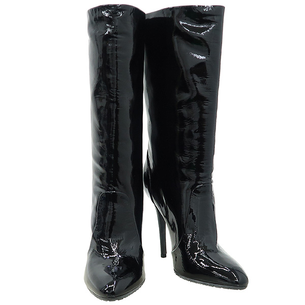 GIUSEPPE ZANOTTI(쥬세페자노티) 블랙 페이던트 레더 여성용 부츠 [강남본점]