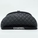 Chanel(샤넬) 은장 COCO로고 장식 블랙 캐비어스킨 클러치백 [강남본점]