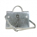 Dior(크리스챤디올) 19-MA-0116 실버 컬러 메탈릭 카프스킨 미듐 디올에버 토트백 + 숄더스트랩 2way [대구동성로점]