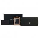 Prada(프라다) 1MH132 SAFFIANO METAL 블랙 사피아노 메탈 블랙 금장로고 장지갑+보조카드지갑 [동대문점]