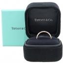 Tiffany(티파니) PT950 플래티늄 골드 + 18K 옐로우골드 콤비 4MM 밀그레인 반지 - 12호 [강남본점]
