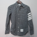 THOM BROWNE(톰브라운) MWL157 사선 테이핑 체크 남성용 셔츠 [대구반월당본점]