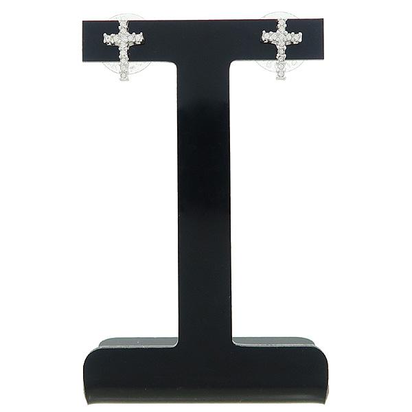Swarovski(스와로브스키) 크리스탈 장식 십자가 목걸이 + 귀걸이 SET [강남본점] 이미지2 - 고이비토 중고명품