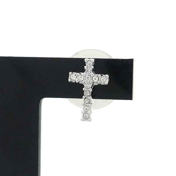 Swarovski(스와로브스키) 크리스탈 장식 십자가 목걸이 + 귀걸이 SET [강남본점] 이미지3 - 고이비토 중고명품