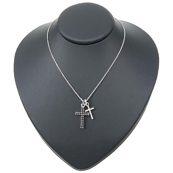 Swarovski(스와로브스키) 크리스탈 장식 십자가 목걸이 + 귀걸이 SET [강남본점] 이미지4 - 고이비토 중고명품