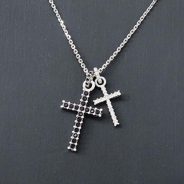 Swarovski(스와로브스키) 크리스탈 장식 십자가 목걸이 + 귀걸이 SET [강남본점] 이미지5 - 고이비토 중고명품