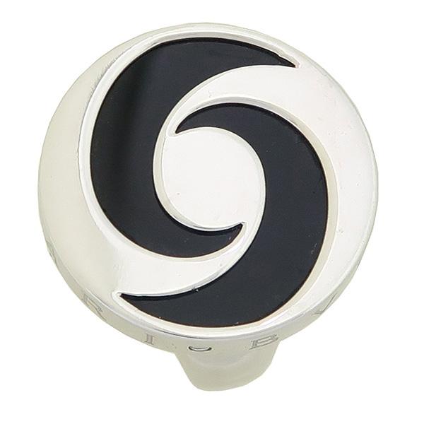 Bvlgari(불가리) 18K 화이트 골드 옵티컬 오닉스 반지 - 14호 [강남본점]