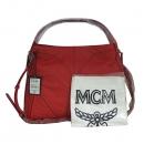 MCM(엠씨엠) MWH 4SXO21 레드 오렌지 레더 스터드 앰보 디테일 숄더백+크로스스트랩 [동대문점]