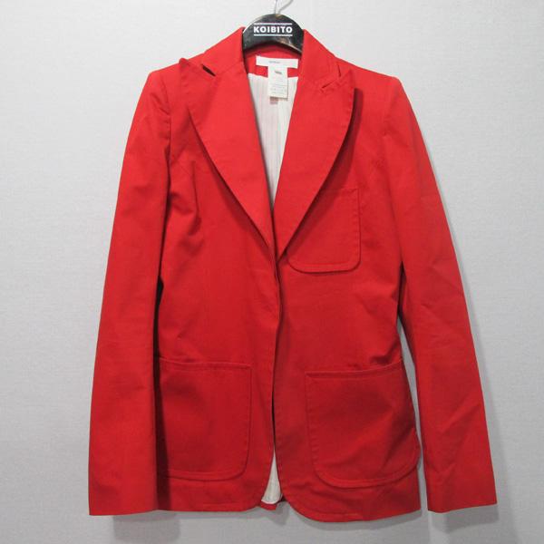 Vanessabruno (바네사부르노) 레드컬러 면 100% 여성용 자켓 + 바지 세트 [대구반월당본점]