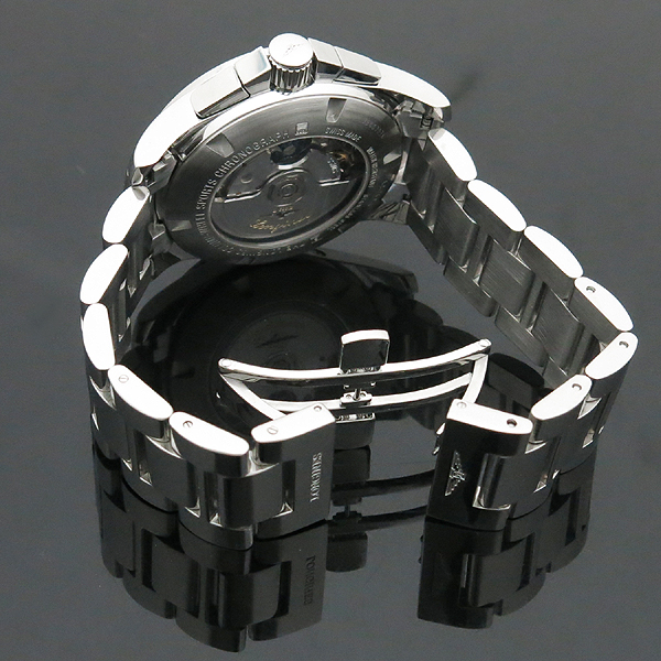 LONGINES(론진) L2.743.4 블랙 다이얼 Conquest (콘퀘스트) 데이트 크로노그래프 시스루백 스틸밴드 오토매틱 남성용 시계 [인천점] 이미지4 - 고이비토 중고명품