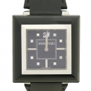 Swarovski(스와로브스키) 1047355 ROCK N LIGHT 블랙 스퀘어 장식 여성용 가죽밴드 시계 [강남본점]