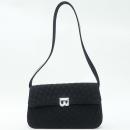 Bally(발리) 블랙 컬러 퀼팅 패브릭 레더 트리밍 은장 로고 장식 숄더백 [강남본점]