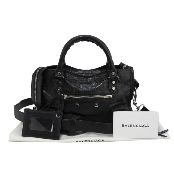 Balenciaga(발렌시아가) 300295 블랙 레더 은장 엣지 클래식 시티 미니 2WAY [대구반월당본점]