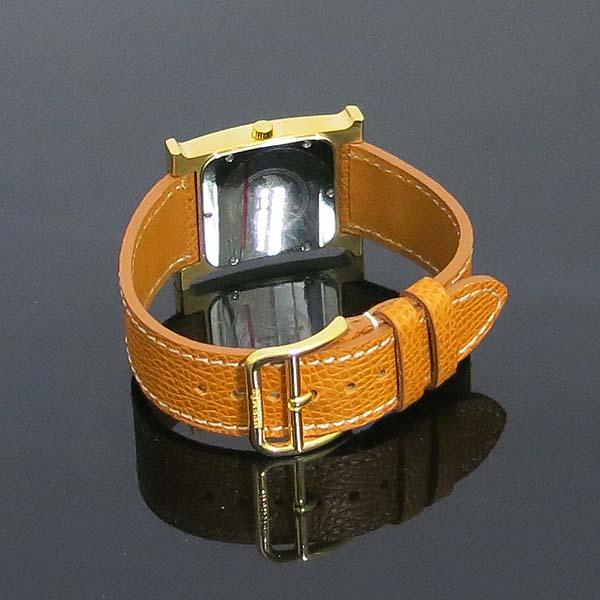 Hermes(에르메스) HH1.501 금장 H아워 가죽밴드 쿼츠 남성용 시계 [동대문점] 이미지4 - 고이비토 중고명품