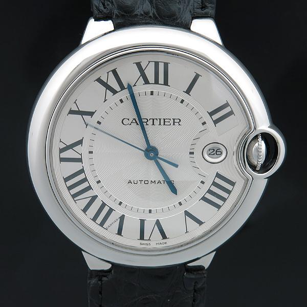 Cartier(까르띠에) W69016Z4 BALLON BLEU(발롱블루) 42MM L사이즈 오토매틱 가죽밴드 남성용 시계 [인천점]