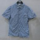 MONCLER(몽클레어) 나일론 100% 블루 컬러 플라워 프린팅 셔츠 [부산센텀본점]