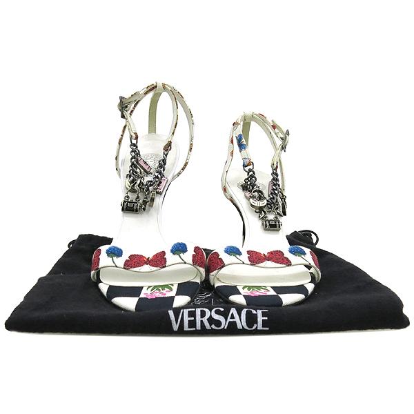Versace(베르사체) 캔버스 체인 장식 여성용 샌들 [강남본점]