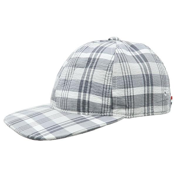 THOM BROWNE(톰브라운) 체크 패턴 패브릭 캡 모자 [강남본점]