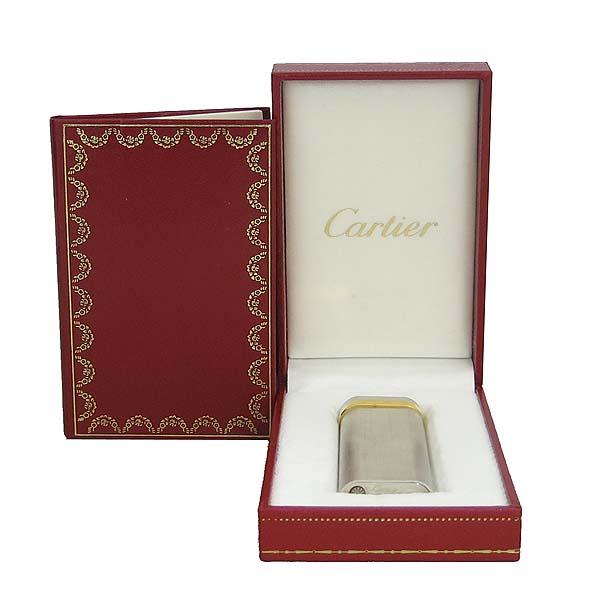 Cartier(까르띠에) 은장 엔틱 금장 이니셜 장식 라이터 [동대문점]