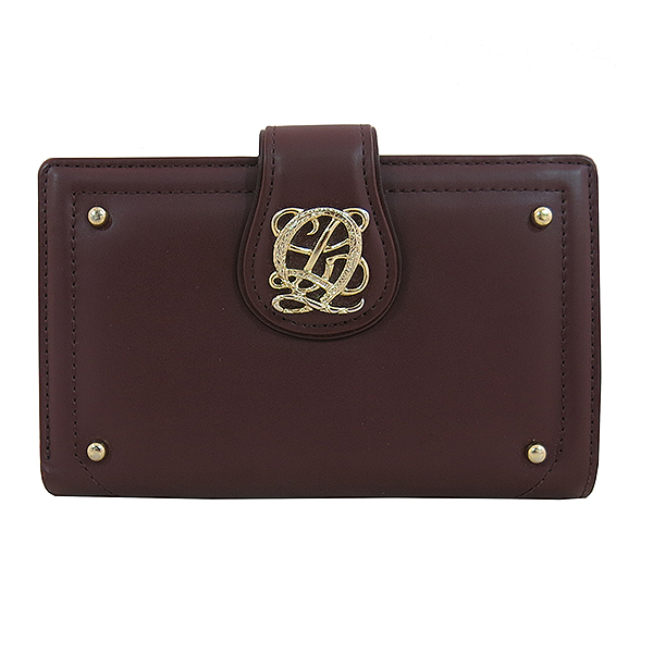 Louis_Quatorze (루이까또즈) 골드 로고 장식 버건디 컬러 여성용 중지갑 [대구동성로점]