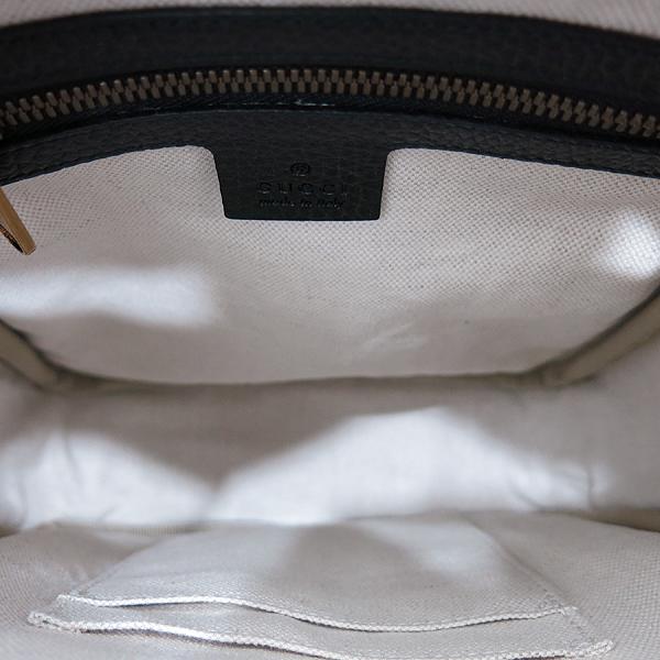 Gucci(구찌) 523591 블랙 레더 18FW 프리폴 컬렉션 웹 스트라이프 빈티지 프린트 로고 메신저 숄더 겸 크로스백 [인천점] 이미지6 - 고이비토 중고명품