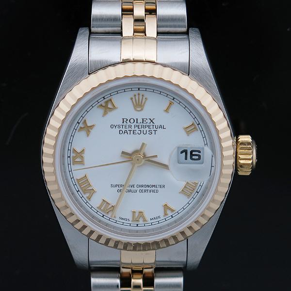 Rolex(로렉스) 79173 DATEJUST(데이트저스트) 18K 골드 콤비 화이트 다이얼 로마 인덱스 데이트 오토매틱 여성용 시계 [인천점] 이미지2 - 고이비토 중고명품