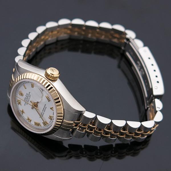 Rolex(로렉스) 79173 DATEJUST(데이트저스트) 18K 골드 콤비 화이트 다이얼 로마 인덱스 데이트 오토매틱 여성용 시계 [인천점] 이미지3 - 고이비토 중고명품