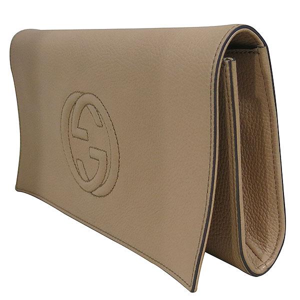 Gucci(구찌) 336753 브라운 레더 인터로킹 소호 태슬장식 플랩 클러치 [대구동성로점] 이미지2 - 고이비토 중고명품