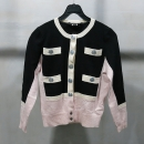 Marc_Jacobs (마크 제이콥스) 100% 캐시미어 블랙 + 핑크 배색 여성용 가디건 [인천점]