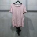 VALENTINO(발렌티노) 인디 핑크 컬러 사이드 블랙 도트 매쉬 장직 티셔츠 [인천점]