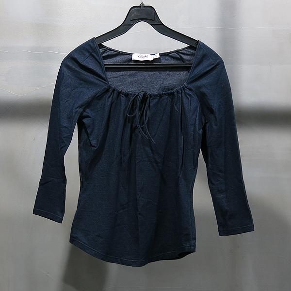 Moschino(모스키노) 네이비 컬러 스트링 장식 티셔츠 [인천점]
