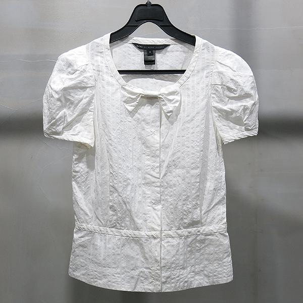 Marc_Jacobs (마크 제이콥스) 화이트 컬러 리본 장식 여성용 블라우스 [인천점]