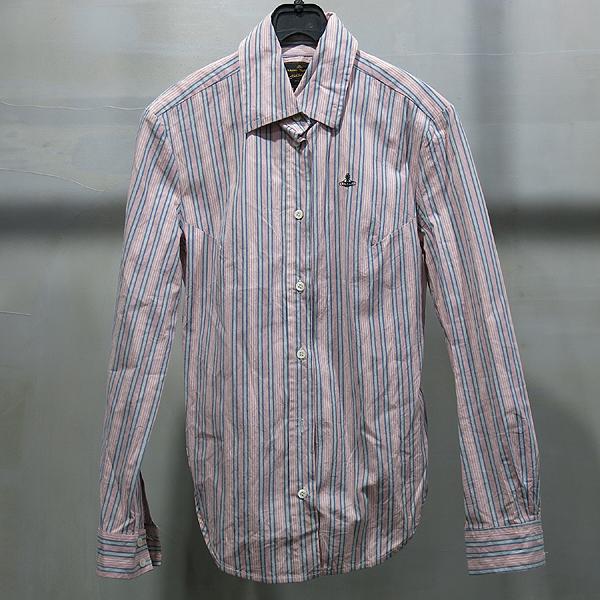 Vivienne_Westwood (비비안 웨스트우드) 핑크 스트라이프 여성용 셔츠 [인천점]