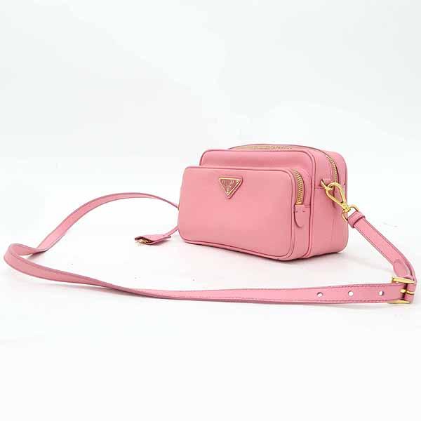 Prada(프라다) BT1010 핑크 컬러 사피아노 레더 삼각 로고 장식 카메라 케이스 크로스백 [강남본점] 이미지2 - 고이비토 중고명품