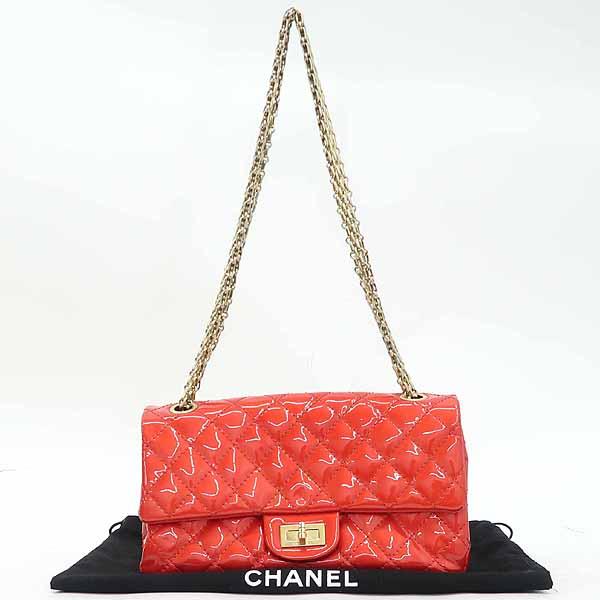 Chanel(샤넬) 레드 컬러 페이던트 2.55 금장 메탈 체인 숄더백 [강남본점]