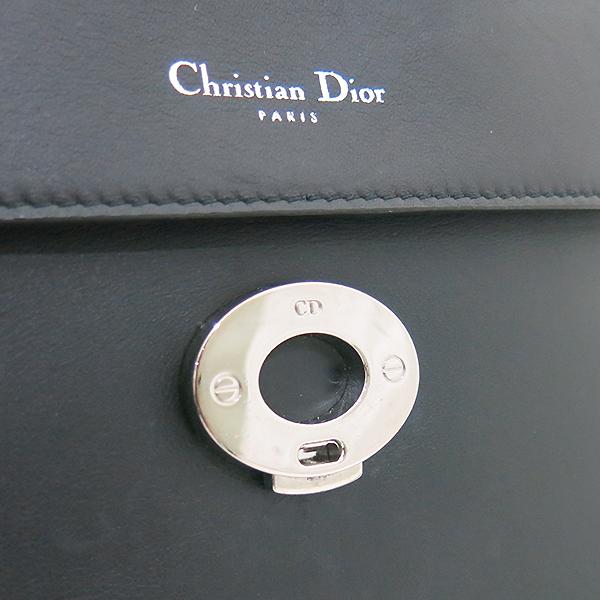 Dior(크리스챤디올) 블랙 레더 BE DIOR(비 디올) 토트백 + 숄더 스트랩 2WAY [부산센텀본점] 이미지4 - 고이비토 중고명품